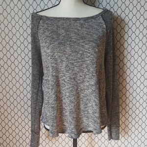 TORRID Wide neck Black/White Sweatshirt Size 0